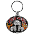 Fear No Evil Metal Key Chain with Enameled Details