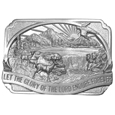 Glory of the Lord Antiqued Belt Buckle