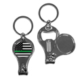 Thin Green Line Army Flag Nail Care/Bottle Opener Key Chain