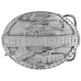National Guard Antiqued Belt Buckle
