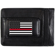 Thin Red Line Firefighter Flag Leather Cash and Cardholder