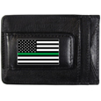 Thin Green Line Army Flag Leather Cash and Cardholder