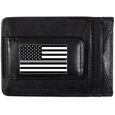 Thin Gray Line National Guard Flag Leather Cash and Cardholder