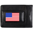 United States Flag Leather Cash and Cardholder