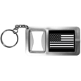 Thin Gray Line Veterans Flag Flashlight Key Chain with Bottle Opener