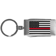 Thin Red Line Firefighter Flag Multi-tool Key Chain