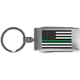 Thin Green Line Army Flag Multi-tool Key Chain