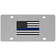 Thin Blue Line Police Flag License Plate Wall Plaque