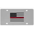 Thin Red Line Firefighter Flag  License Plate Wall Plaque