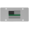 Thin Green Line Army Flag  License Plate Wall Plaque