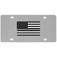 Thin Gray Line Veterans Flag License Plate Wall Plaque