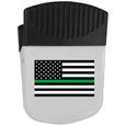 Thin Green Line Army Flag Chip Clip Magnet With Bottle Opener