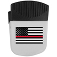 Thin Red Line Coast Guard Flag Chip Clip Magnet With Bottle Opener