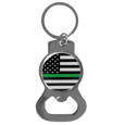 Thin Green Line Army Flag Bottle Opener Key Chain