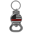 Thin Red Line Coast Guard Flag Bottle Opener Key Chain