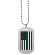 Thin Green Line Army Flag Tag Necklace