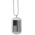 Thin Gray Line Veterans Flag Tag Necklace