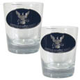 Navy Rocks Glass Set