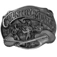 Country Music Antiqued Belt Buckle