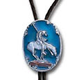 End of the Trail Diamond-Cut Bolo Tie