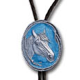 Horse with Rope Border Bolo Tie