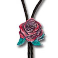 Free Form Rose Bolo Tie
