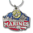 U. S. Marines Military Metal Key Chain with Enameled Details