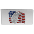 Sculpted Moneyclip - American Flag with Eagle Head