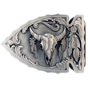 Belt Buckle - Buffalo Skull (Diamond Cut) - Finely sculpted and intricately designed belt buckle. Our unique designs often become collector's items.