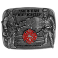 2016 Limited Edition Firefighter Buckle - Our limited edition American Fire Fighter buckle finely sculpted and hand painted depicting the heroism of fire fighters in action.