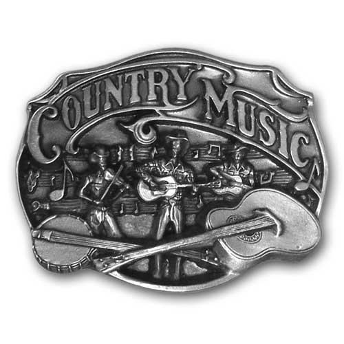 Country Music Buckle - Finely sculpted and intricately designed belt buckle. Our unique designs often become collector's items.