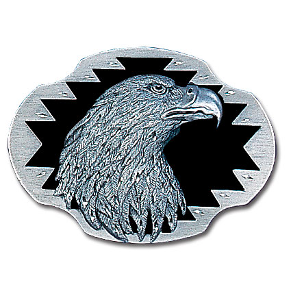 Belt Buckle - Eagle head (Diamond Cut ) - This finely sculpted belt buckle contains exceptional 3D detailing and diamond cut accents. Siskiyou's unique buckle designs often become collector's items and are unequaled with the best craftsmanship.