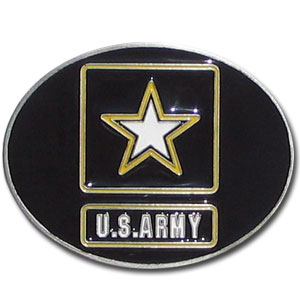 Army Buckle - Our armed forces belt buckles feature 3D detailing and hand enameled detail. Check out our entire line of  armed forces merchandise!