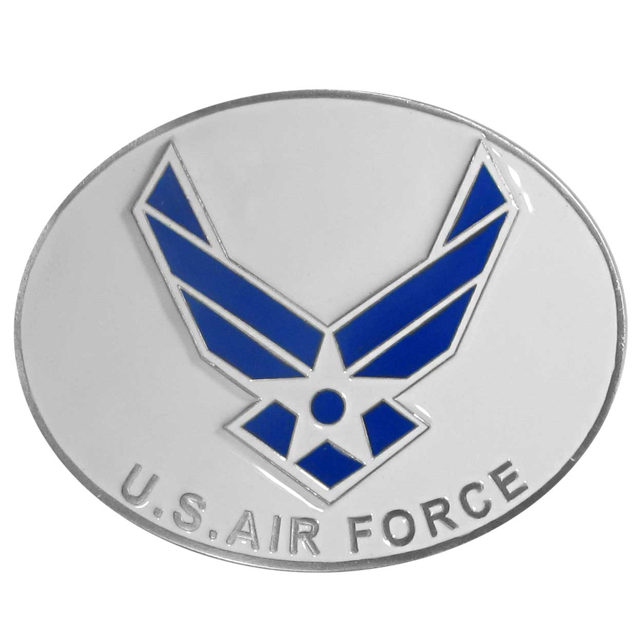 US Air Force Belt Buckle - Our armed forces belt buckles feature 3D detailing and hand enameled detail. Check out our entire line of  armed forces merchandise!