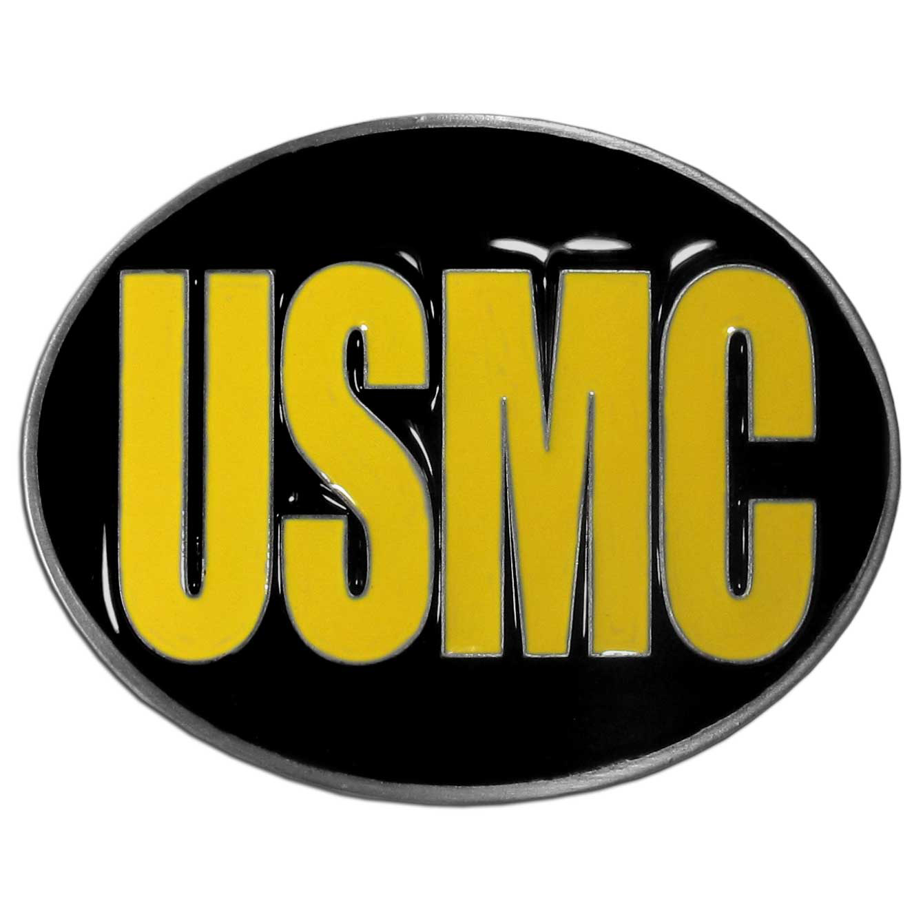USMC Belt Buckle - Oval - Our armed forces belt buckles feature 3D detailing and hand enameled detail. Check out our entire line of  armed forces merchandise!