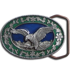 "Small Eagle Buckle - This finely sculpted buckle is a smaller 2"" style perfect for thinner belts."
