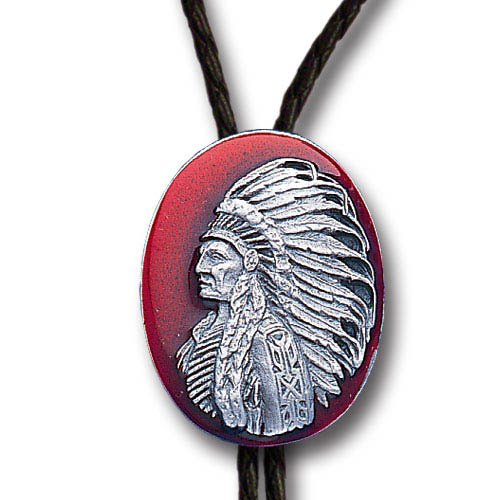 Bolo - Indian Chief - Siskiyou's original bolo ties feature a fully cast metal tie piece on a high quality black tie with metal tips.
