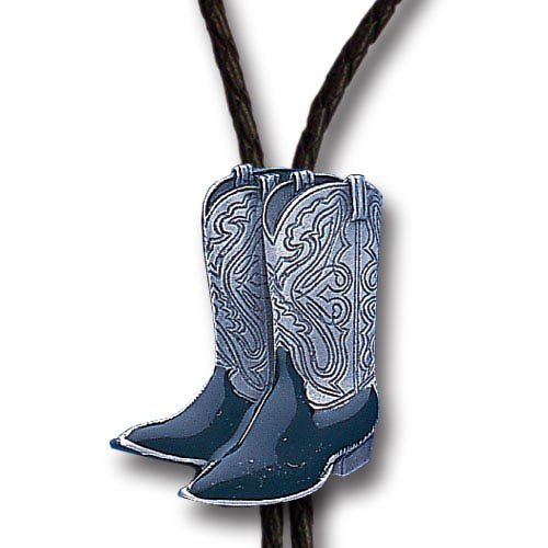 Bolo - Cowboy Boots - Siskiyou's original bolo ties feature a fully cast metal tie piece on a high quality black tie with metal tips.