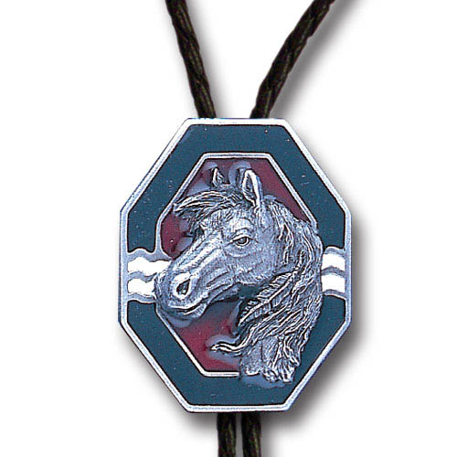 Bolo - Southwest Horse - Siskiyou's original bolo ties feature a fully cast metal tie piece on a high quality black tie with metal tips.