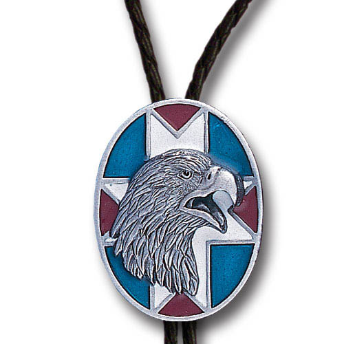 Bolo - Southwest Eagle - Siskiyou's original bolo ties feature a fully cast metal tie piece on a high quality black tie with metal tips.