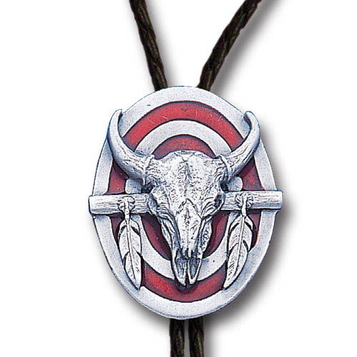 Bolo - Buffalo Skull - Siskiyou's original bolo ties feature a fully cast metal tie piece on a high quality black tie with metal tips.