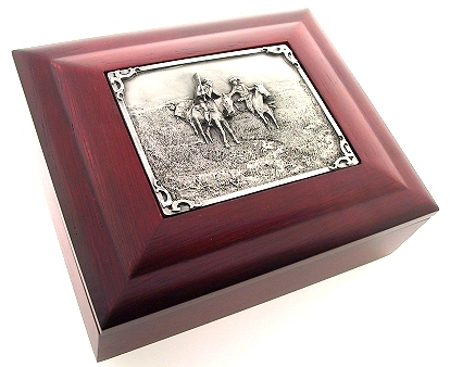 Gift Box - CM Russell - This expertly crafted gift box has exquisite detailing and makes a perfect gift for home or office.