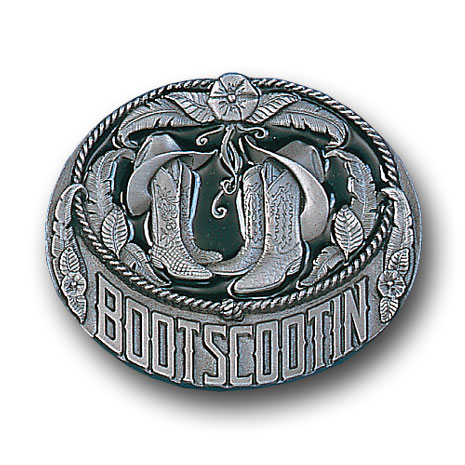 Belt Buckle - Boots Scootin - This finely sculpted and hand enameled western belt buckle contains exceptional 3D detailing. Siskiyou's unique buckle designs often become collector's items and are unequaled with the best craftsmanship.