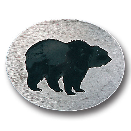 Belt Buckle - Grizzly Silhouette - This finely sculpted and hand enameled grizzly belt buckle contains exceptional 3D detailing. Siskiyou's unique buckle designs often become collector's items and are unequaled with the best craftsmanship.