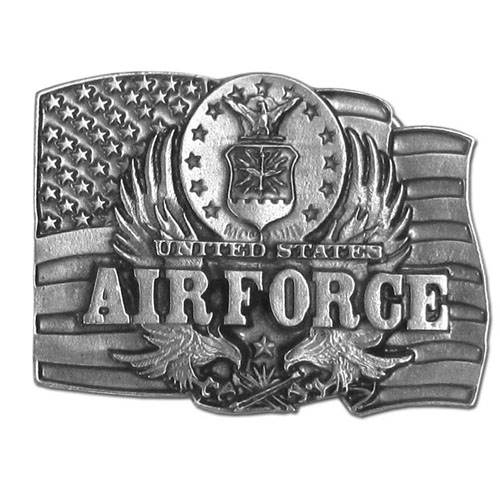 Air Force Buckle - Finely sculpted and intricately designed Air Force belt buckle. Our unique designs often become collector's items.