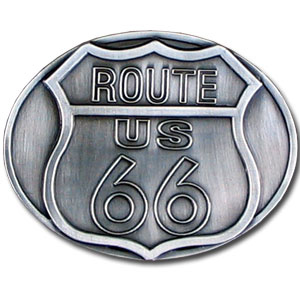 Belt Buckle - Route 66 - Finely sculpted and intricately designed Route 66 belt buckle. Our unique designs often become collector's items. Check out our entire line of  belt buckles.