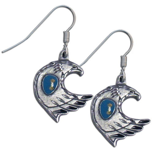 Dangle Earrings - Eagle & Stone - Siskiyou's dangle earrings are cast in zinc, lead free and hypoallergenic featuring an emblem with a Eagle and Stone.