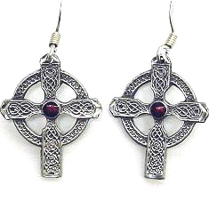 Dangle Earrings - Celtic Cross - Siskiyou's dangle earrings are cast in zinc, lead free and hypoallergenic featuring an emblem with a Celtic Cross.
