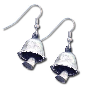 Dangle Earrings - Mushroom - Siskiyou's dangle earrings are cast in zinc, lead free and hypoallergenic featuring an emblem with a Mushroom.