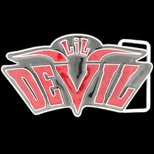 "Graffiti Expressions Belt Buckle - Lil Devil  - Are you a Lil Devil? You can be with our Graffiti Expressions buckle, a Siskiyou Gifts exclusive. Enameled in vibrant color with the spade highlighted, buckle measures 3 1/8"" x 2 1/2""."